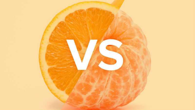 Мандарин или апельсин