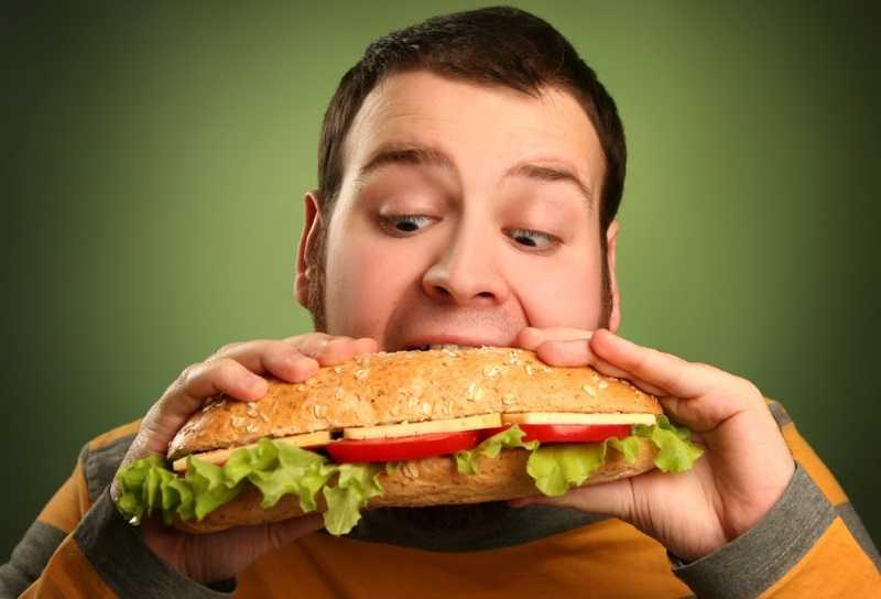 как человек ест