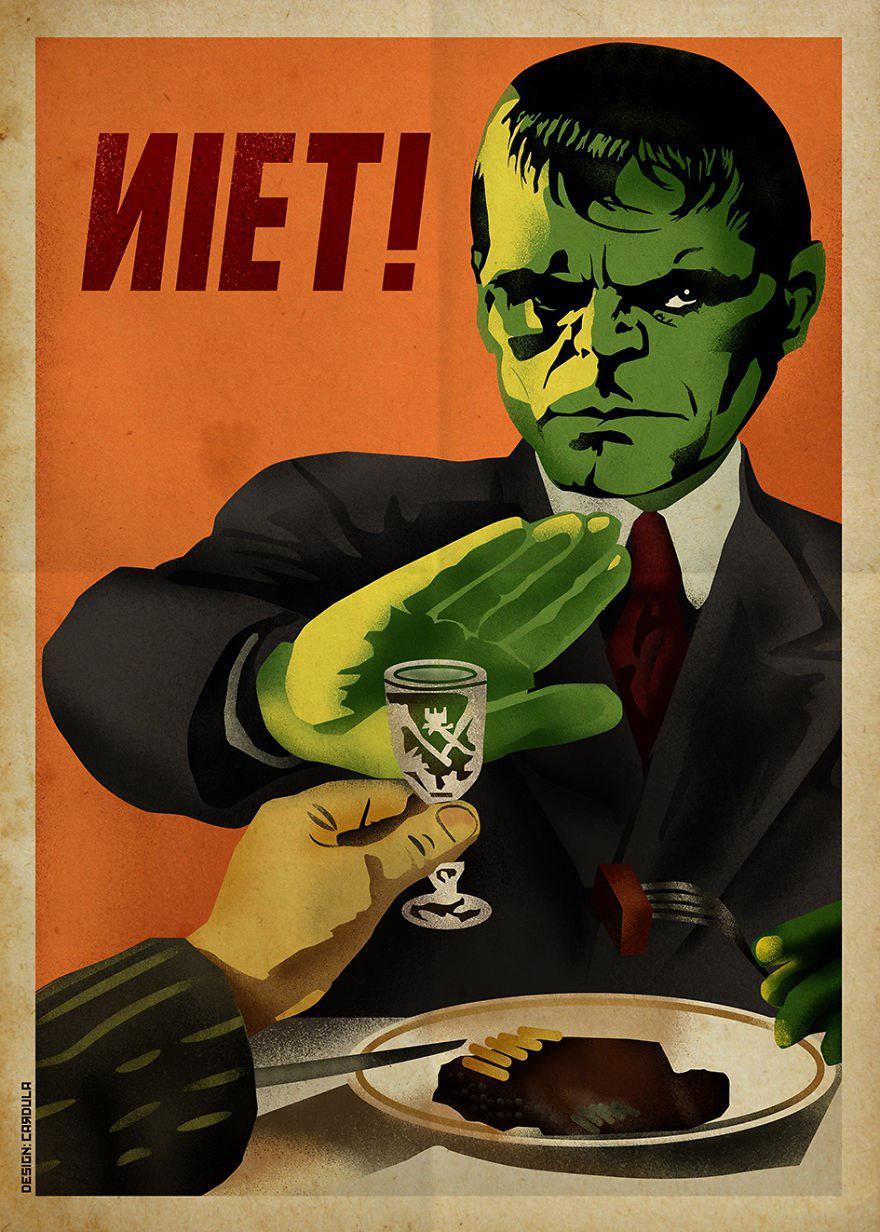 советский плакат Халк