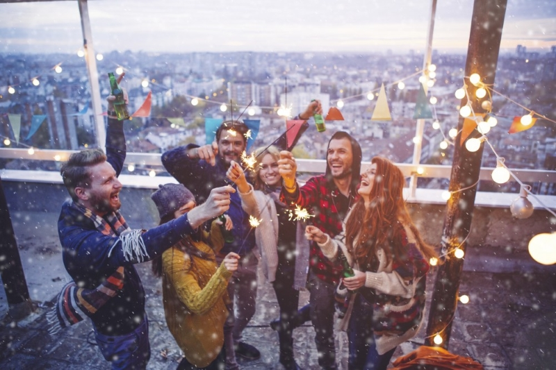 Новый год на крыше