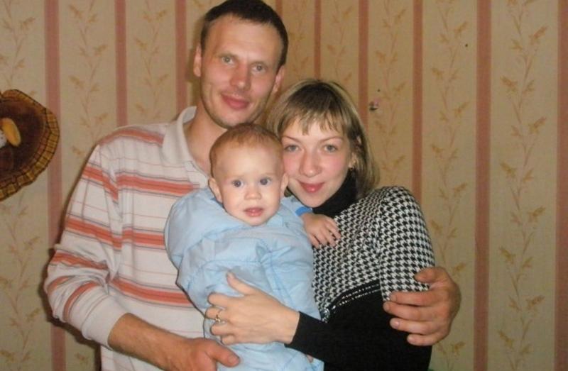 Ирина Банникова с семьей до трагедии