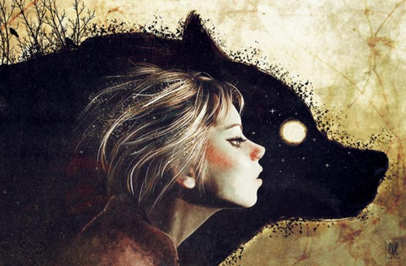 девочка и волк