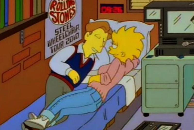 Лиза Симпсон с мужем