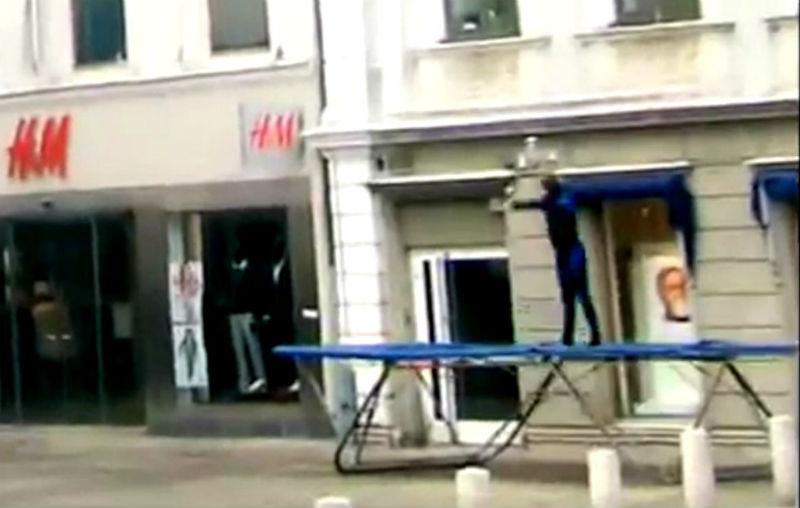 Прыжок с батута на крышу. Реальность или фейк?| (СОК.Медиа)